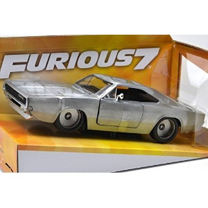 "JadaToys 1:24scale ""FAST & FURIOUS 7"" ""DOM'S DODGE CHARGER R/T""(SILVER) ジェイダトイズ 1:24スケール 「ワイルドスピード..."