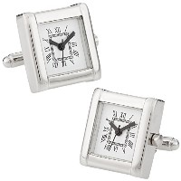 Cuff - Daddy Functional Watch作業Square Cufflinks withプレゼンテーションボックス