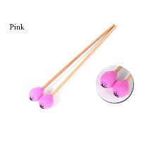 マリンバ用毛糸巻きマレット,木製ハンドル,2個入れ Marimba Mallets with maple Handles,Five Colors,medium soft&medium hard...