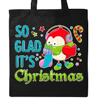 Inktastic – So Glad Its christmas-キュートHoliday鳥トートバッグ One Size ブラック