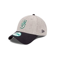 """Seattle Mariners New Era 9Forty MLB """"The League Heather"""" Adjustable Hat Chapeau"""
