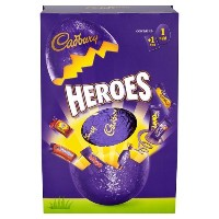 Cadbury HEROES Chocolate Egg with 1 bag of popular cadburys chocolate miniatures from England 274g