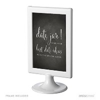 Andaz Press Framed Wedding Party Signs, Vintage Chalkboard Print, 4x6-inch, Date Jar Share Your...