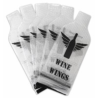 6 VALUE Pack Reusable Wine Bottle Protector Bubble Wrap Travel Bag - Inner Skin with Tough Leak...
