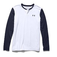 Under ArmourメンズUA ColdGear Infrared軽量Henley 3L ホワイト