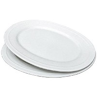 Better Homes and Gardens Oval Platters、ホワイト、2のセット