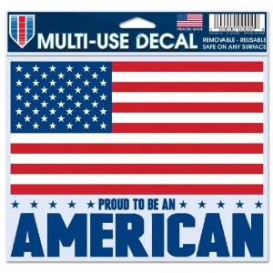 "American Flag Decal – 5 "" x6 ""カラー – multi-use"