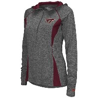 レディースVirginia Tech Hokies Quarter Zip風シャツ L