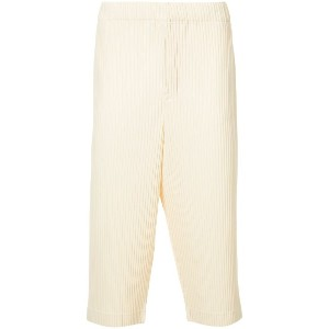 Homme Plissé Issey Miyake cropped ribbed trousers - イエロー&オレンジ