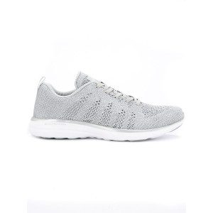 Apl perforated lace-up sneakers - グレー