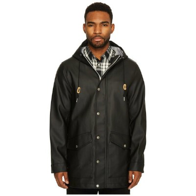 リーバイス メンズ コート アウター Long Two-Pocket Fishtail Hooded Parka Black