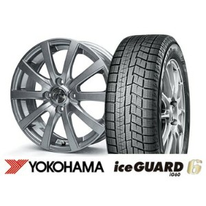 【N-BOX N-WGN N-ONE WAGO-R におすすめ】2017年製 ヨコハマ ice GUARD6 IG60 155/65R14ZACK JP110 14インチSET