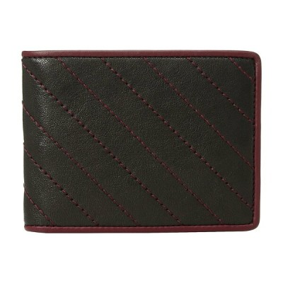 ボスカ メンズ 財布 アクセサリー Napoli Quilted Eight-Pocket Deluxe Executive Wallet Black/Burgundy