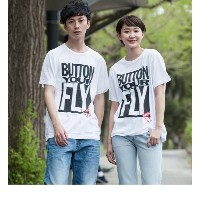 SS SURPLUS GRAPHIC TEE BUTTON YOUR FLY W【リーバイス/Levi's メンズ Tシャツ・カットソー ナチュラル ルミネ LUMINE】