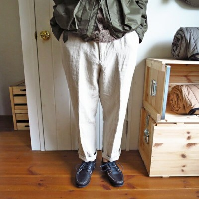 ENDS and MEANS Linen Grandpa Trousers エンズアンドミーンズ リネン グランパ トラウザー