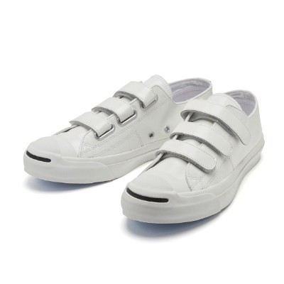 【CONVERSE】 コンバース JACK PURCELL V-3 CG LEATHER R ジャックパーセル V-3 CG レザー R 32243320 WHITE