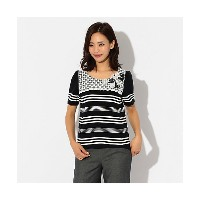【SALE(伊勢丹)】 TO BE CHIC/TO BE CHIC  グログランボーダーカットソー ネイビー 【三越・伊勢丹/公式】 レディースウエア~~Tシャツ~~その他