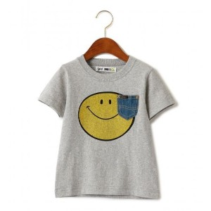 〔WEB限定〕LEE(リー) SMILE プリント TEE【グリーンレーベルリラクシング/green label relaxing キッズ Tシャツ・カットソー MD.GRAY ルミネ LUMINE】