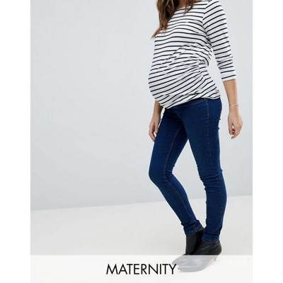 new look maternity over the bump dark blue jegging ニュー ルック バンプ ダーク マタニティ ブルー 青 オーバー ボトムス キッズ ベビー...