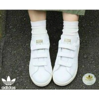 ★【adidas 正規品】★STAN SMITH J White velcro ★S75188★