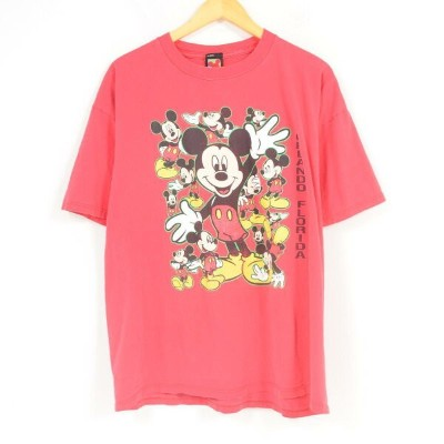 MICKEY UNLIMITED MICKEY MOUSE ミッキーマウス ディズニー キャラクタープリントTシャツ フリーサイズ /war1185 【中古】【古着屋JAM】 【180505】...