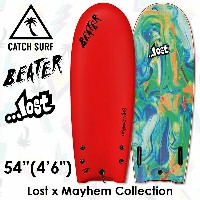 "CATCH SURF BEATER × LOST THE ORIGINAL 54"" LOSTxMAYHEMコレクション TWIN FIN サーフィン ソフトボード RED"