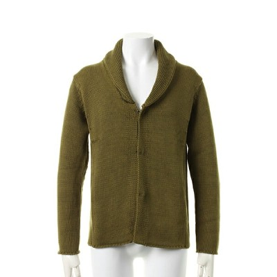 【40%OFFセール|24,840円→14,904円】 VADEL バデル low gage knit blast finish 3H shawl cardigan{KJ006-KNT05-62...
