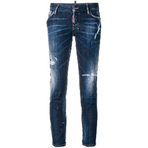 Dsquared2 distressed skinny jeans - ブルー