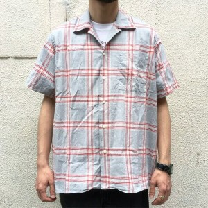INDIVIDUALIZED SHIRTS / Open Collar Shirt White Head Eagle 別注 -