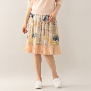 SALE【トゥー ビー シック(TO BE CHIC)】 リビエラプリントスカート ピンク