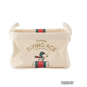 【VINTAGE PEANUTS】PILIER 収納ボックススクエアSS FLYING ACE【アダム エ ロペル マガザン/Adam et Rope Le Magasin レディス, メンズ...