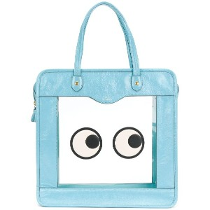 Anya Hindmarch Rainy Day Eyes トートバッグ - ブルー