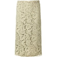 Jean Louis Scherrer Vintage lace pencil skirt - グリーン