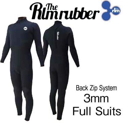 最新2018モデル THE RLM RUBBER LIMITED PC Back Zip 3mm FULL WET SUITS