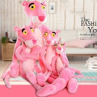 38cm  Cute Naughty Pink Sweetheart Panther Stuffed Toy Plush Doll Christmas Gifts for Children Kids