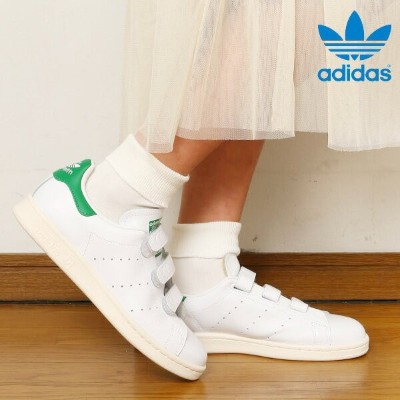adidas Originals STAN SMITH CF TF(アディダス オリジナルス スタンスミス CF TF)Running White/Running White/Green【ベルクロ...
