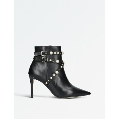 カーベラ レディース シューズ・靴 ブーツ【granite faux pearl-embellished leather ankle boots】Black