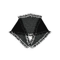 Saint Laurent Long tassel embellished stole - ブラック