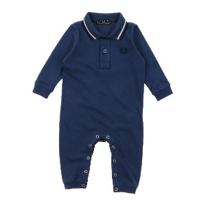 FRED PERRY 乳幼児用ロンパース ブルー