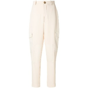 See By Chloé high-waisted tapered trousers - ニュートラル
