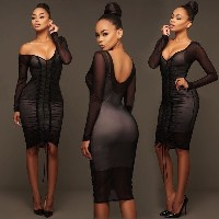 Summer Women Sleeveless Bandage Bodycon Evening Party Cocktail Short Mini Dress