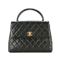 Chanel Vintage quilted handbag - ブラック