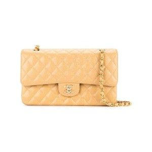 Chanel Vintage quilted double flap bag - ブラウン