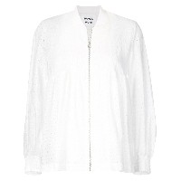 Muveil broderie anglaise bomber jacket - ホワイト