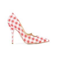 Paul Andrew gingham pumps - レッド