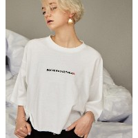 BOOGIE BACKロシア刺繍ショートTEE【フーズフーギャラリー/WHO'S WHO gallery レディス Tシャツ・カットソー オフホワイト ルミネ LUMINE】