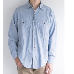 UR FREEMANS SPORTING CLUB JP USN WORK SHIRTS【アーバンリサーチ/URBAN RESEARCH メンズ シャツ・ブラウス B CHAMBRAY ルミネ...