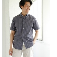 DOORS GYMPHLEX × DOORS 別注GINGHAM SHORT-SLEEVE SHIRTS【アーバンリサーチ/URBAN RESEARCH メンズ シャツ・ブラウス GY×COALGY...