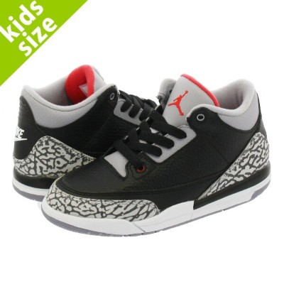 【キッズサイズ】【16-22cm】 NIKE AIR JORDAN 3 RETRO BP ナイキ エア ジョーダン 3 レトロ BP BLACK/FIRE RED/CEMENT GREY/WHITE...