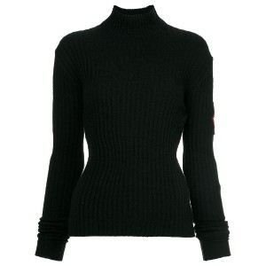 Chanel Vintage patch sleeve knit top - ブラック